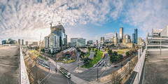 view of Docklands and the CBD (lucidddreamin') Tags: rooftop clouds sunny highrise docklands innercity carpark