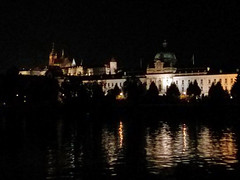 Prague Castle at night (stephengg) Tags: cruise reflection castle water night river republic czech prague praha vltava