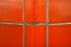 bold red bossing around the corner (raumoberbayern) Tags: red abstract rot munich mnchen kacheln minimal tiles ubahn column robbbilder sule urbanfragments