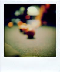 lotta green (R. Drozda) Tags: seattle film pool polaroid sx70 washington billiards unfocused pooltable billiardball drozda impossibleprojectcolorsx70film hellbentbrewery roidweekspring2016