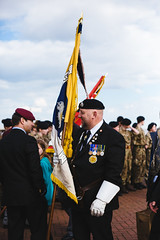 standard (I AM JAMIE KING) Tags: people pier uniform candid flag military police hull standard beret armedforces cadet engineers royalengineers parachuteregiment seacadet aircadet redberets humansofhull