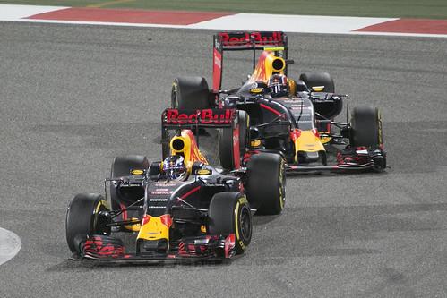 F1 race - Red Bull Ricciardo and Kvyat