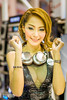 DSC06108 (inkid) Tags: light portrait people girl lady zeiss thailand 50mm prime model women pretty dof photoshoot boobs bokeh f14 sony indoor thai ambient dslr wat performer za chang ssm motorshow asiangirl pak kret nonthaburi sonyangel motorshow2015 mts2015