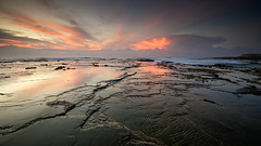 Reflecting on sunrise (noompty) Tags: sunrise reflections newcastle pentax wideangle nsw coastline k5 sigma1020mmf456 on1pics