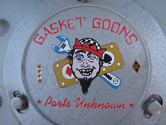 Gasket Goons - Parts Unknown Logo (Speeder1) Tags: show street cruise two hot classic ford chevrolet car bar logo rat pennsylvania muscle parts pa lane tavern unknown rod 55 goons aces willys gasket blacktop eights birdsboro blackjax