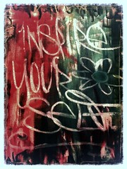 """INSPIRE YOURSELF"" (www.InspireCollective.com) Tags: red white black green art colors yellow painting typography artwork paint signature tel aviv paintings size oil inside inspire a2 available artworks itw sayngs inspireyourself streetarartists"