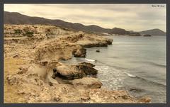 Acantilados en Los Escullos (Njar - Almera) (Jose Manuel Cano) Tags: sea espaa stone landscape mar spain paisaje almera roca acantilado escullos njar nikond5100