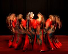 Tibetan dance  (MelindaChan ^..^) Tags: school girls motion lady dance student movement chinese mel melinda macau    tibetandance chanmelmel  melindachan