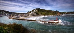 Stormy day at Looe, Cornwall (Baz Richardson) Tags: coast seaside cornwall cliffs beaches stormyweather looe stormyseas banjopier cornishtowns