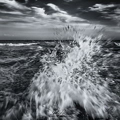 The wave crashed towards of my face (Callegher Marco - The beauty in my eyes) Tags: sea bw italy seascape verde clouds canon blackwhite mare waves crash wave duna biancoenero adriatic onde onda caorle