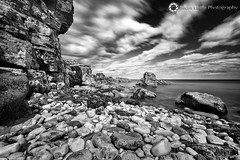 Whitburn, North East (Silent Eagle  Photography) Tags: longexposure sea bw seascape reflection monochrome rock clouds canon photography yahoo google shadows silent eagle wave lee sep northeast flipboard constrast leefilters bigstopper silenteaglephotography silenteagle09