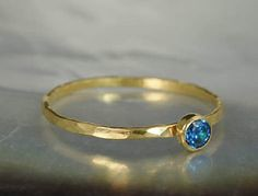 Dainty Solid 14k Gol (alaridesign) Tags: blue by real gold december band ring mothers 14k zircon dainty solitaire solid birthstone 3mm alaridesign