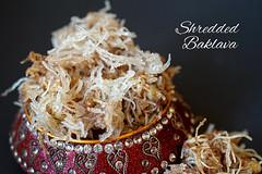 Shredded Baklava (cindypalas) Tags: red food greek sweet indoor turkish baklava windowlight