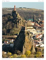 LePuy en Velay[Hte-Loire] (BerColly) Tags: city france landscape google flickr paysage lepuyenvelay ville auvergne cathedrale hauteloire viege aiguilhe bercolly