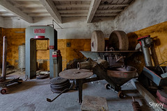 MG-15 (StussyExplores) Tags: italy abandoned stairs italian barrels decay olive grand mg explore villa oil mansion exploration derelict fresco cellar ceilings urbex