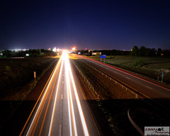 River of Lights (1300 Photography) Tags: road cars night lights slowshutter interstate trafic i44