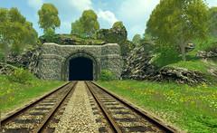 Hoffentlich kommt kein Zug (VenusTraum) Tags: tunnel schienen