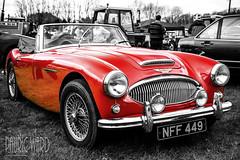 3000 MKII (Pauric Ward) Tags: old red 2 white black sports car vintage austin mask ii layer british 3000 449 mk healey nff nff449
