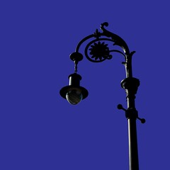 lamp (friendlydrag0n) Tags: street blue light sky black lamp post pole