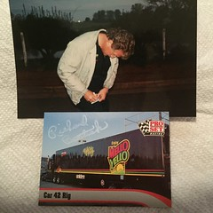 #47a-27, Richard Bostick Jr., (Driver Of #42 Mello Yello Hauler) Signing, #47a-27, Pro-Set Racing, 1992, #18, (Picture Proof Autographs) Tags: photograph photographs inperson pictureproof photoproof picture photo proof image images collector collectors collection collections collectible collectibles classic session sessions authentic authenticated real genuine sign signed signing sigature sigatures auto autos vehicles vehicle model automobile automobiles driver drivers autoracing sport sports nascar winstoncup sprint cup busch nationwide craftsman campingworld xfinity series autographes autographed ppps trardingcards binder 12 maxxracecards 88 89 90 fullsets
