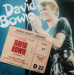 David Bowie World Tour 1978 (Stephen Reed) Tags: england music david london rock night star bowie concert nikon gig inmemoryof ipad d7000