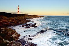 Rough seas at Tarbat Ness Lighthouse (iancowe) Tags: winter sunset lighthouse storm easter frank scotland ross rocks scottish stormy stevenson rough cromarty portmahomack moray ness firth tain northernlighthouseboard nlb tarbat tarbatness