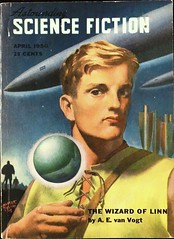 Astounding Science Fiction Vol. 45, No. 2 (April, 1950).  Cover Art by Hubert Rogers (lhboudreau) Tags: portrait illustration magazine drawing wizard coverart illustrations drawings pulpfiction sciencefiction pulp magazines 1950 pulpmagazine pulpcover magazineart magazinecover magazinecovers astounding blondhair pulps vanvogt aevanvogt pulpcovers vintagemagazine vintagemagazines pulpart pulpmagazines astoundingsciencefiction astoundingstories classicsciencefiction vintagepulp hubertrogers april1950 astoundingmagazine sciencefictionstories streetsmith streetandsmith vintagepulpmagazine thewizardoflinn vintagepulps vintagepulpmagazines wizardoflinn volume45number2