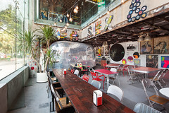 Hotshot (dennis lo designs) Tags: china california lighting wood west brick metal retail vintage photography restaurant bay design coast photo surf industrial chairs fb furniture designer interior painted stickers retro used hong kong skate western brass repulse substance dennislodesigns
