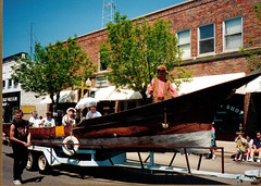 Canal Days Parade, Old Boat on Display