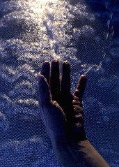 Reaching for the Abyss (James Neil Sheets) Tags: california ca blue summer hot wet water fountain night droplets lowlight raw shadows hand desert dream bubbles screen palm resort springs haunting liquid dripping experimenting fluidity atrmosphere