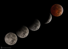 Blood Moon phases (cassianocarromeu) Tags: california sky moon colors beautiful night canon stars eclipse blood san space diego full telescope astrophotography astronomy hd universe celestron 8in backyardeos