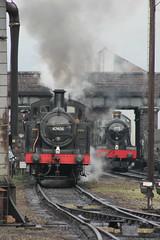 47406 & 6990 (MylesBeevor) Tags: uk train hall br tank wind great central engine railway loco steam modified locomotive gw freight loughborough wagons gwr lms cutters jinty witherslack