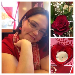 nathalie. february 14th 2016 (timp37) Tags: flowers roses white castle collage day candle heart shaped indiana nat nathalie valentines february 14th