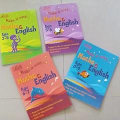 รวมแบบฝึกหัด แบ่งตามช่วงอายุ ตามหลักสูตร British National Curriculum ของ Letts วิชาภาษาอังกฤษและคณิตศาสตร์
