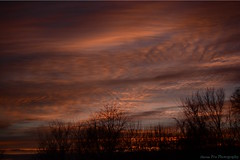--And a shmere (Ahrem Pea Photography) Tags: sunset orange clouds 35mm nikon wv westvirginia layers f18 reticulate almostheaven d5200 shmere