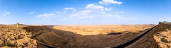 panoram of mitzpe ramon (conrad.levac) Tags: street travel blue camping wild sky panorama mountain holiday tourism nature beautiful yellow stone walking landscape outdoors israel big sand scenery long day view desert cloudy hiking background empty dunes south extreme scenic places tourist canyon crater huge environment negev geology ramon desolate desolation vast geological mitzpe waterless uncultivated makhtesh