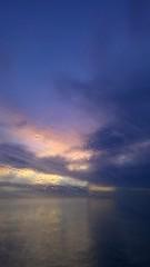 Out of the window (nna!) Tags: pink blue venice light sunset window nature water colors yellow island see tramonto mare ship picture photograph sight laguna venezia colori vaporetto immaginazione goccia pellestrina finestrini