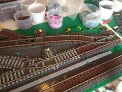 Layout update (UrbanErwin) Tags: train track lego trains modular moc lowlug