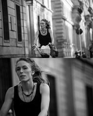 [La Mia Citt][Pedala] (Urca) Tags: portrait blackandwhite bw bike bicycle italia milano bn ciclista biancoenero mir bicicletta 2015 pedalare dittico nikondigitale ritrattostradale 795170