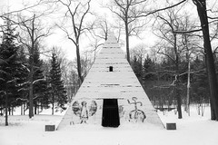 Modern petroglyphs on the Pyramid in Catherine park (Suicidal_zombie) Tags: park winter snow stpetersburg pyramid russia catherine saintpetersburg petroglyph russie selo pushkin         tsarskoye