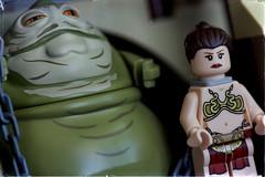 Saucy Wars (hbmike2000) Tags: macro toys starwars nikon lego disney chain plastic princessleia jabba minifig saucy leia returnofthejedi minifigure odc jabbathehut explored sailbarge d810 hbmike2000