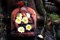 Gaea (Shrimaitreya) Tags: flowers india ganesha shrine god ganesh idol maharashtra hindu hinduism pune ganapati
