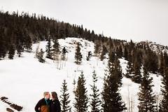 Mountain Engagement (nicksparksphotography) Tags: pictures park wedding portrait mountains photography 1 kissing colorado couple photographer photos wide rocky denver estes in