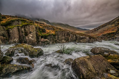 Rush hour (einir.leigh) Tags: uk winter summer orange snow mountains colour water rain wales clouds rural river walking landscape waterfall nikon women rocks stream waves seasons britain outdoor lakes remote welsh snowdonia rugged northwales ogwen ogwenvalley