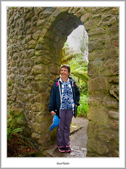 Moira Under The Arch (flatfoot471) Tags: summer england people holiday cornwall unitedkingdom normal moira tresco islesofscilly abbeygardens 2015