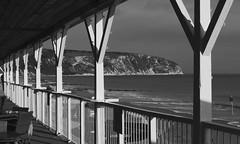(a.pierre4840) Tags: england blackandwhite bw seascape monochrome lines vanishingpoint shadows perspective olympus dorset swanage xenon omd 25mm schneider kreuznach f095 em5 cmount