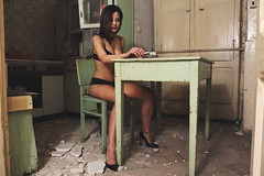 Prostituta 1/5 (giulianobisceglia) Tags: lingerie malinconia interni cucina sigaretta prostituta