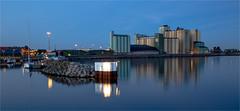Harbor nights in Sweden (zilverbat.) Tags: longexposure nightphotography travel wallpaper water architecture europe nightlights nightshot sweden postcard bluehour 2014 avondfotografie longexposurewater canoneos6d zilverbat longexposurebynight