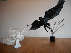 Angel and Demon (Bart Davids) Tags: abstract lines origami pattern box complexity folded complex crease folding intermediate pleating pleat