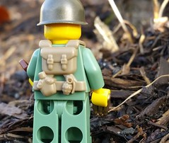 BrickArms US Scout WW2 Vest (back) (BrickArms) Tags: soldier us lego scout ww2 vest minifigure brickarms